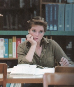 Yours Truly at 17 in the library
